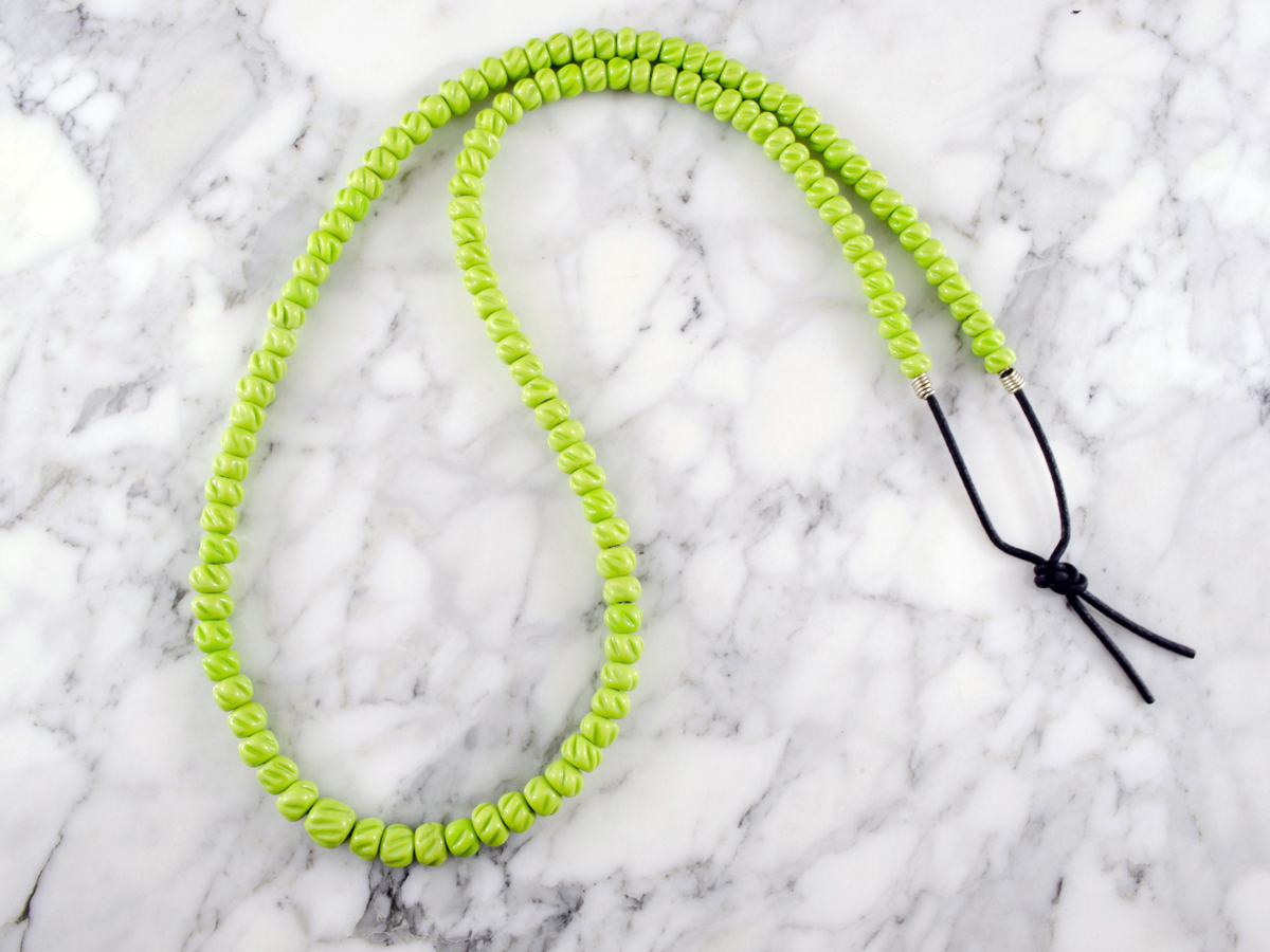 Lime colored Beads